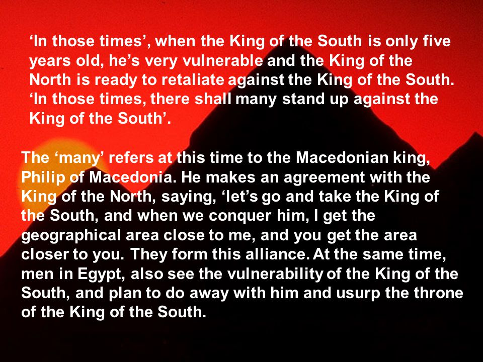 The 'many' refers at this time to the Macedonian king, Philip of Macedonia.