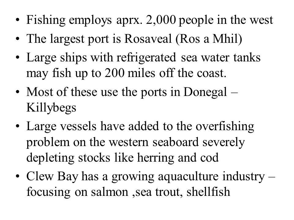 Fishing employs aprx.