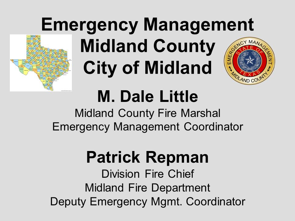 Mitigation, Prepardiness, Response, Recovery Work with all agencies and coordinate the activities during all disasters, manmade, weather, natural or terrorism.