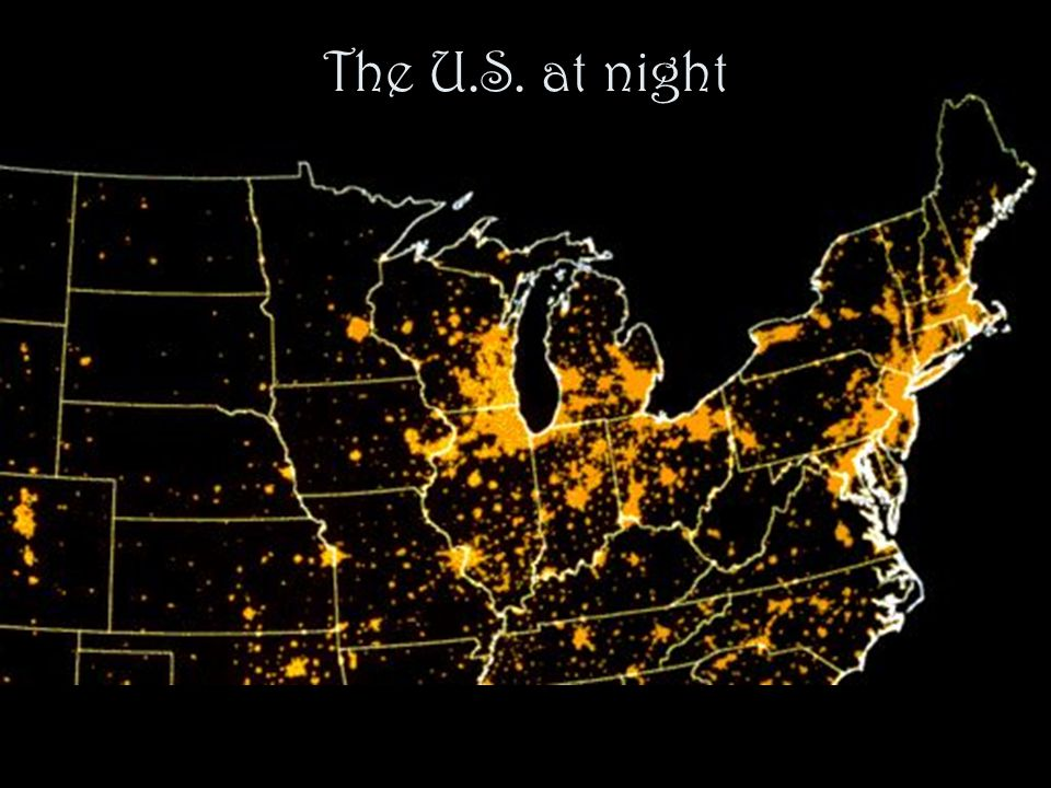A large scale phenomenon The Northern Cities Shift is found throughout the Inland North, an area of 88,000 square miles.