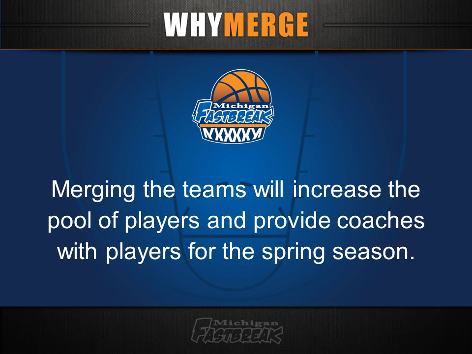 Merging the teams will increase the pool of players and provide coaches with players for the spring season.