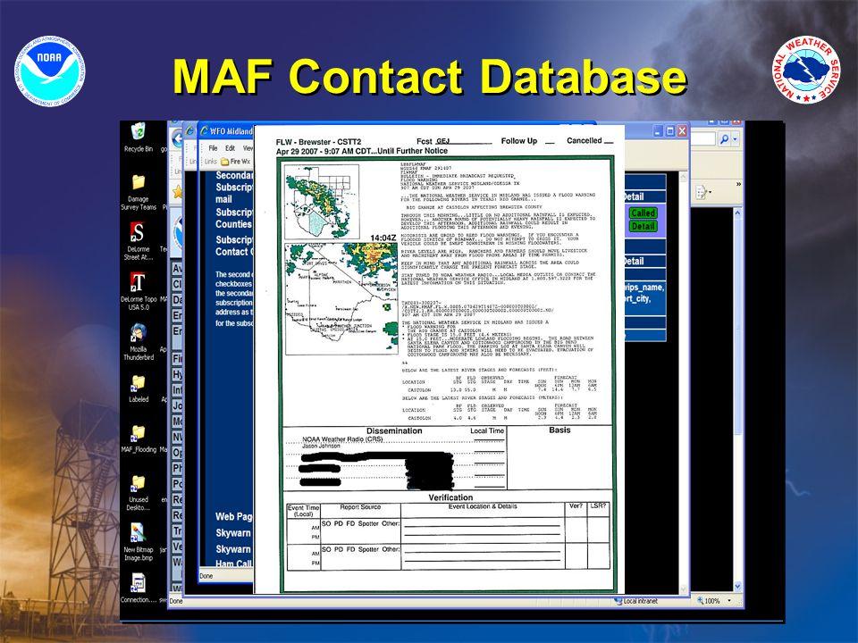 MAF Contact Database