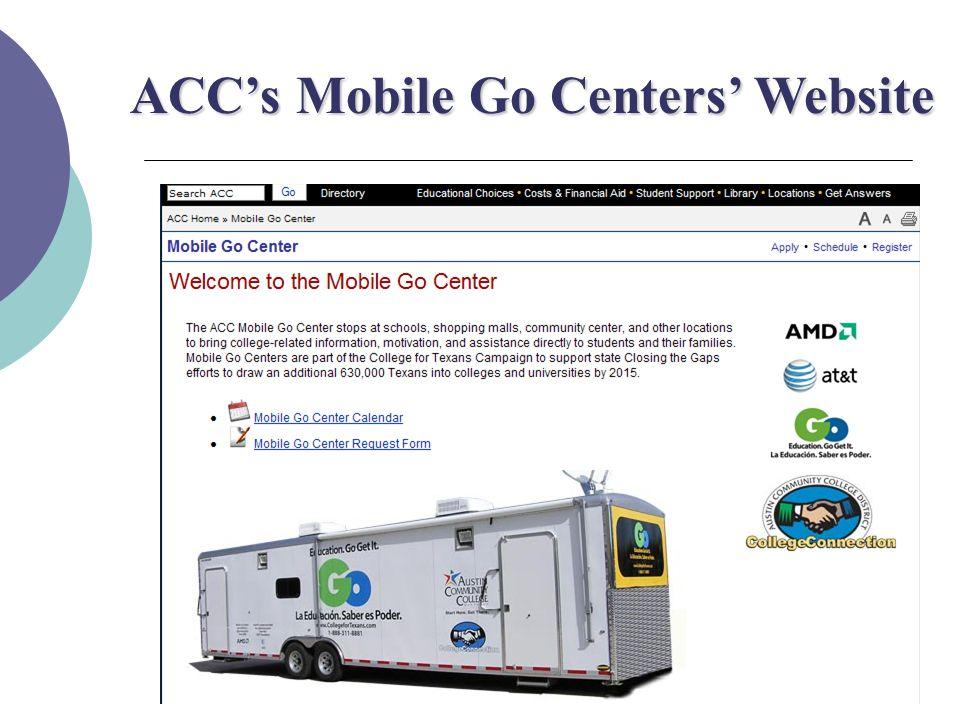ACC's Mobile Go Centers' Website