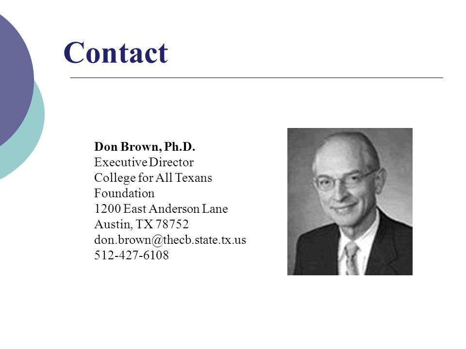 Don Brown, Ph.D.
