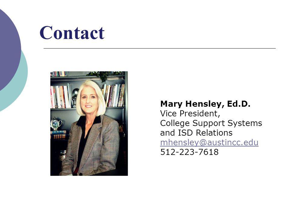 Mary Hensley, Ed.D.