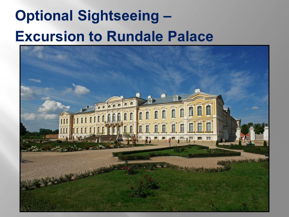 Optional Sightseeing – Excursion to Rundale Palace