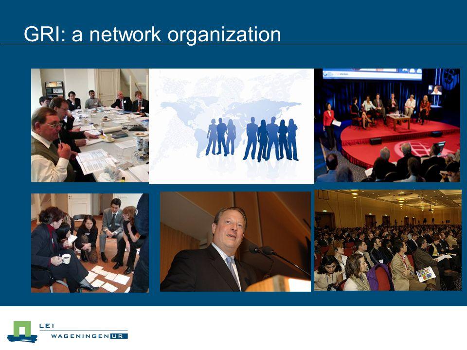 GRI: a network organization