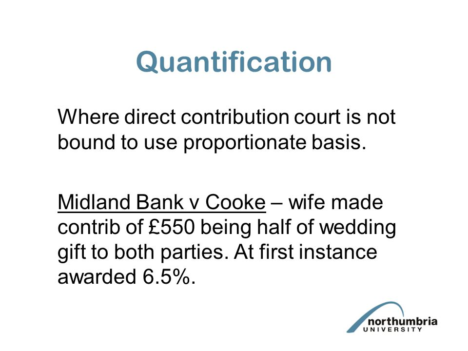 Quantification Where direct contribution court is not bound to use proportionate basis.