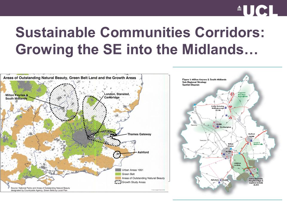 Sustainable Communities Corridors: Growing the SE into the Midlands…