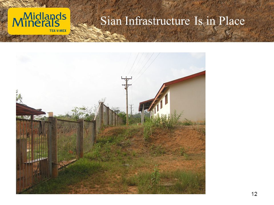 Sian Infrastructure Is in Place 12