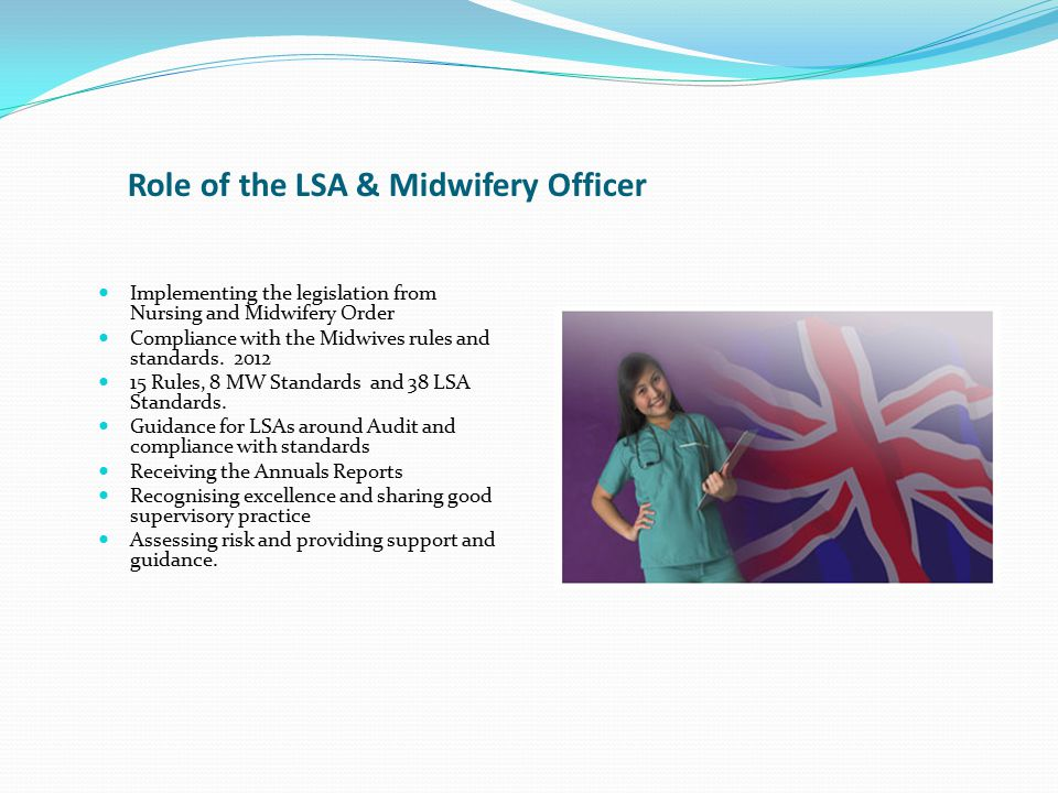 Table to demonstrates the numbers of midwives working in managerial or specialist roles at Band 7 to 9.