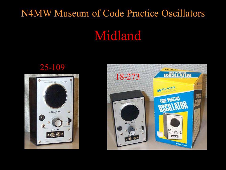 N4MW Museum of Code Practice Oscillators Lafayette (no model) Lafayette 99-25603