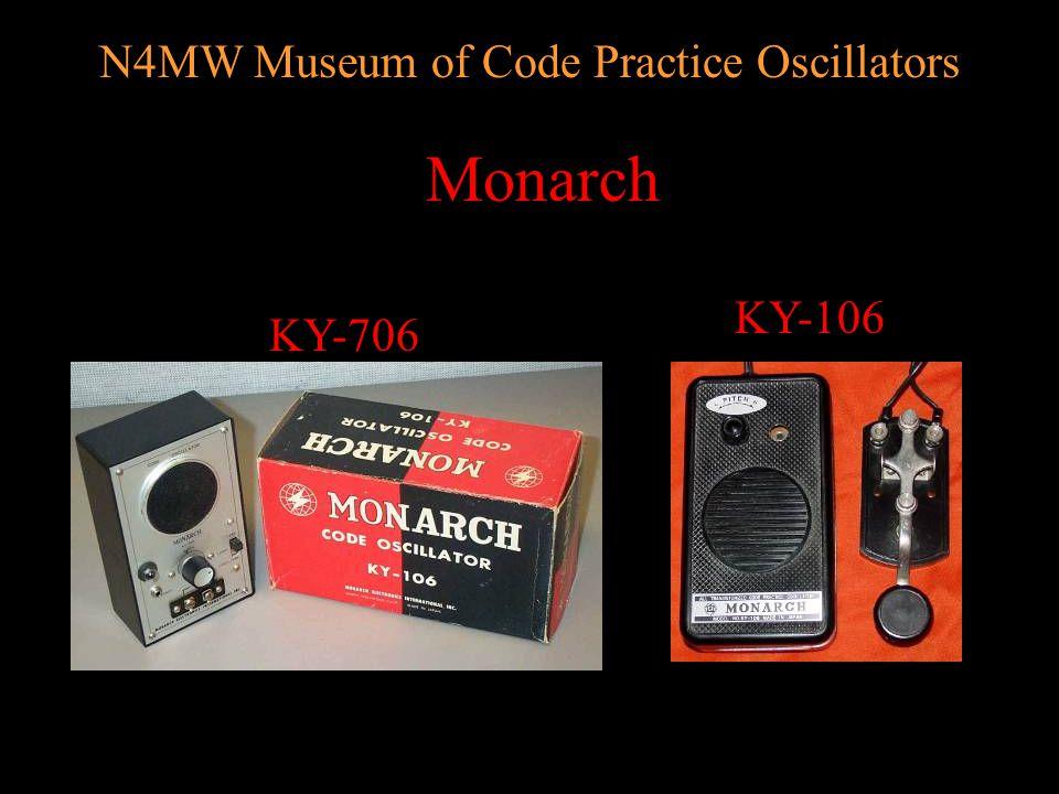 N4MW Museum of Code Practice Oscillators Midland 18-273 25-109