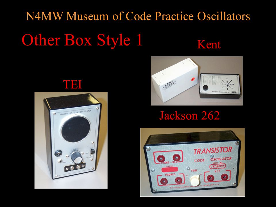 N4MW Museum of Code Practice Oscillators Monarch KY-706 KY-106