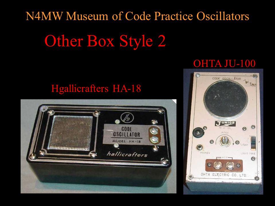 N4MW Museum of Code Practice Oscillators Other Box Style 1 Jackson 262 TEI Kent