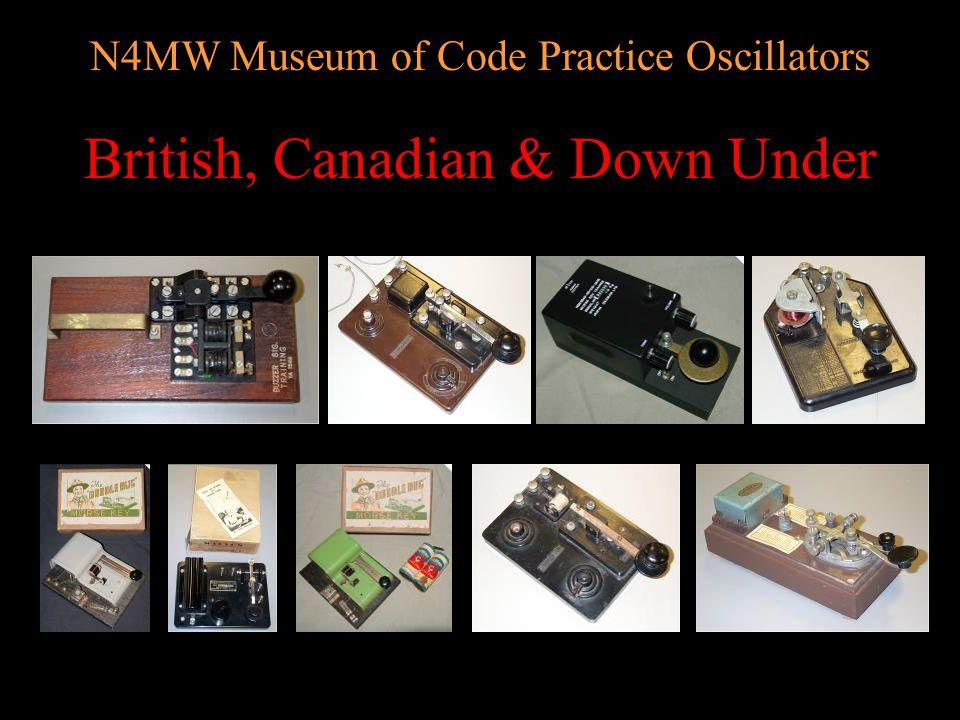 N4MW Museum of Code Practice Oscillators KEY Style
