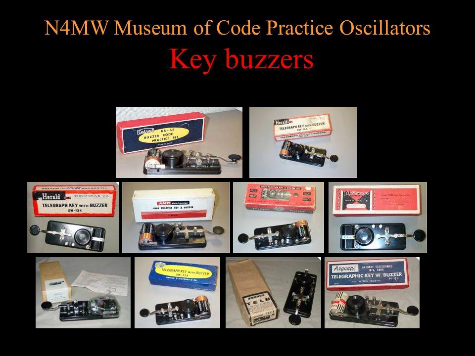 N4MW Museum of Code Practice Oscillators Heathkit