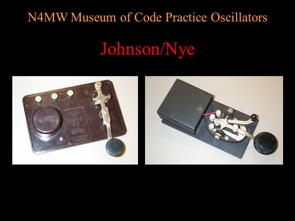 N4MW Museum of Code Practice Oscillators Key buzzers