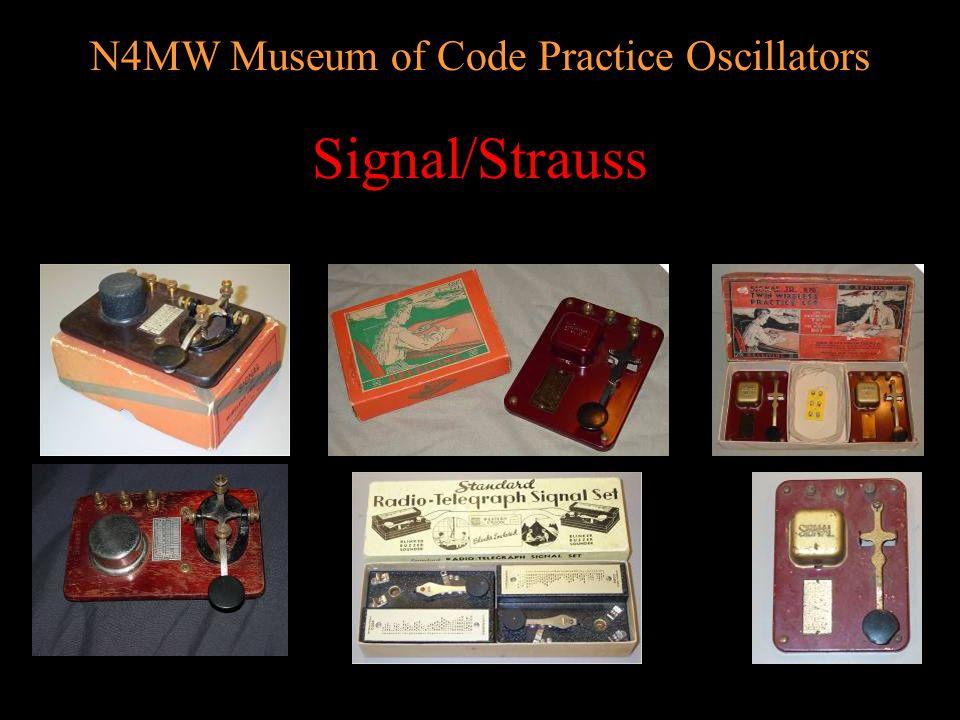 N4MW Museum of Code Practice Oscillators Plastic Signalers