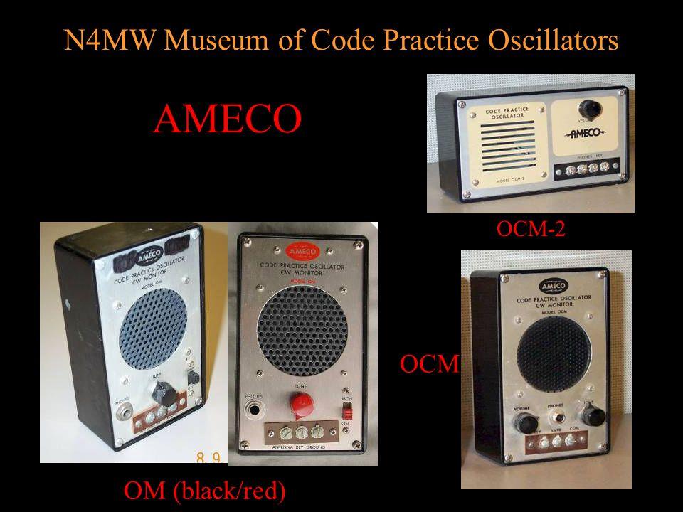 N4MW Museum of Code Practice Oscillators BOX Style