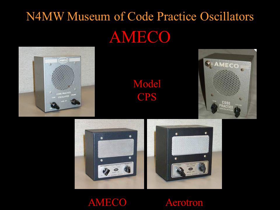 N4MW Museum of Code Practice Oscillators TUBE Style