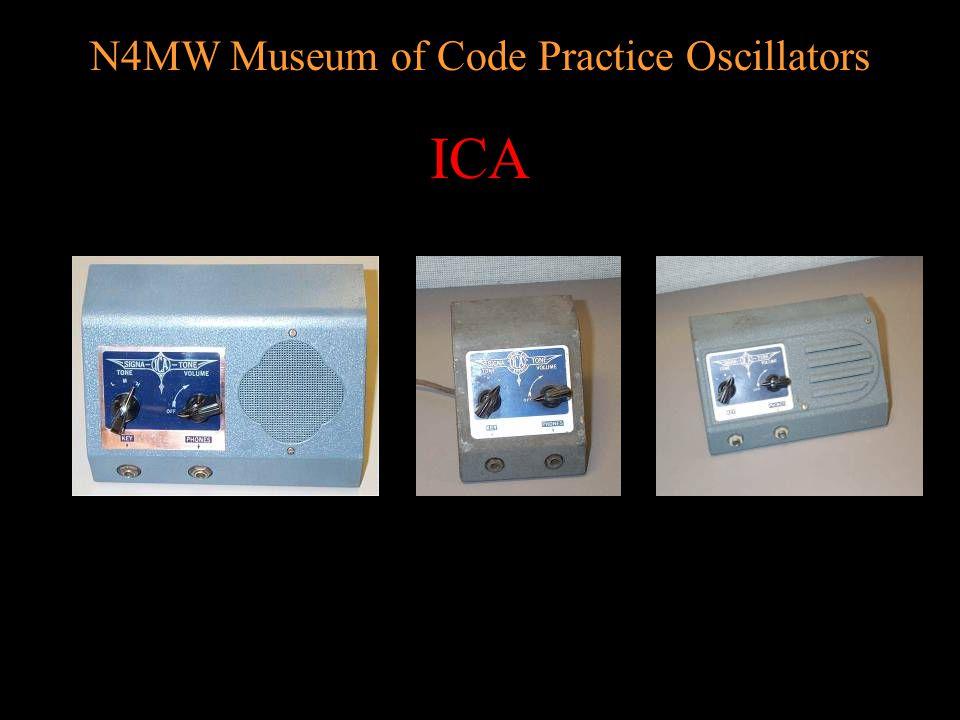 N4MW Museum of Code Practice Oscillators BUD