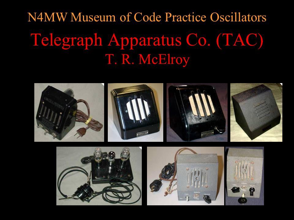 N4MW Museum of Code Practice Oscillators ICA