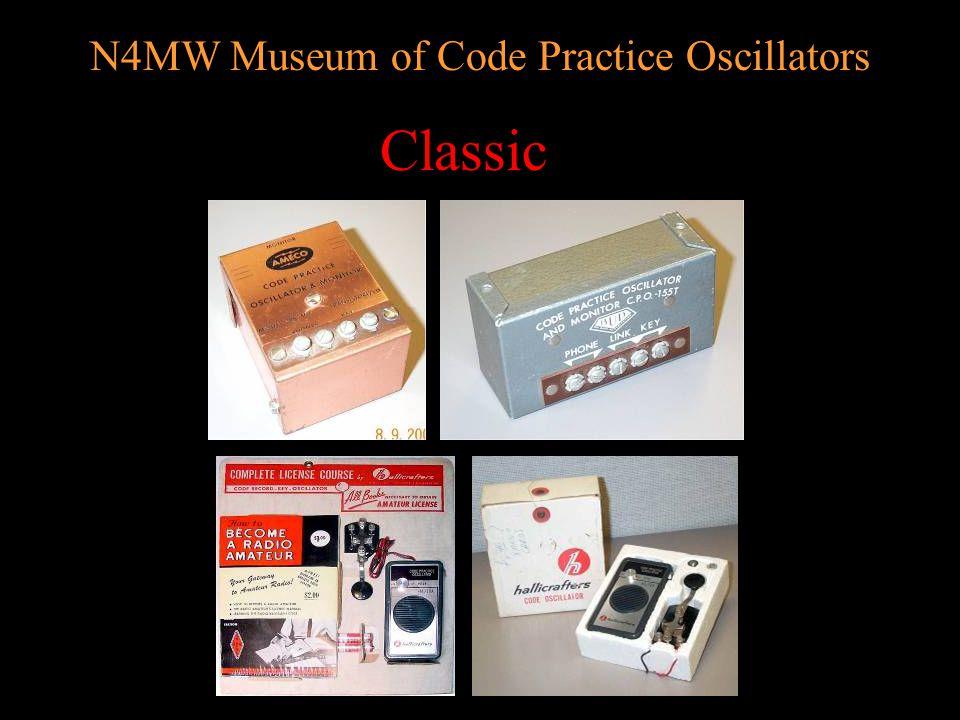 N4MW Museum of Code Practice Oscillators AEA