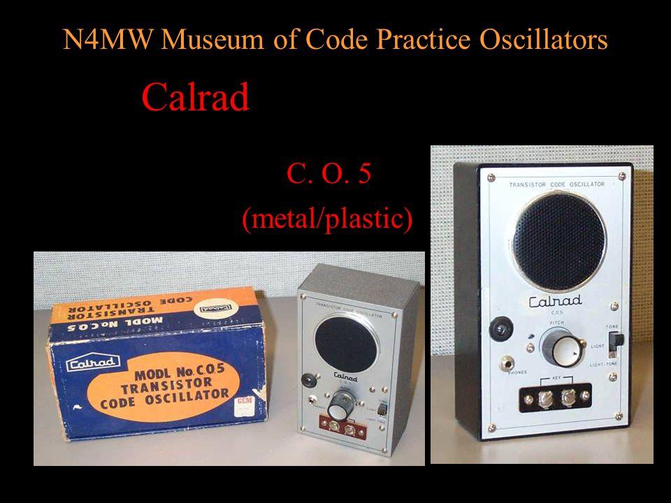 N4MW Museum of Code Practice Oscillators AMECO OCM-2 OCM OM (black/red)