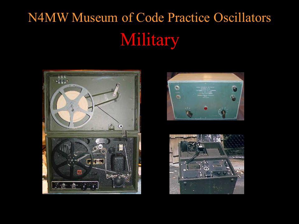 N4MW Museum of Code Practice Oscillators MFJ/Vectronics