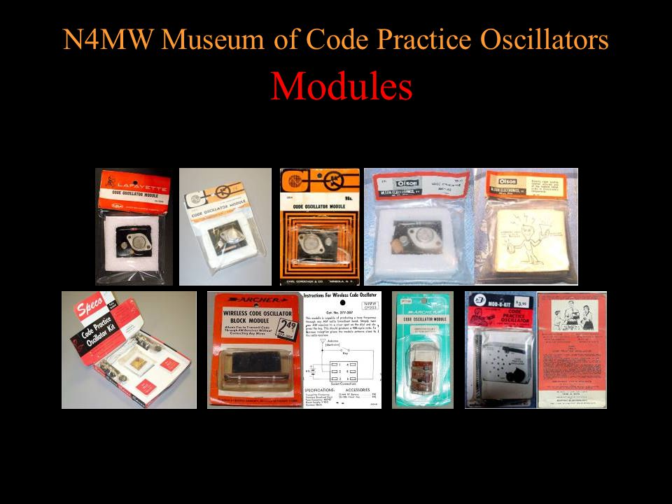 N4MW Museum of Code Practice Oscillators Military