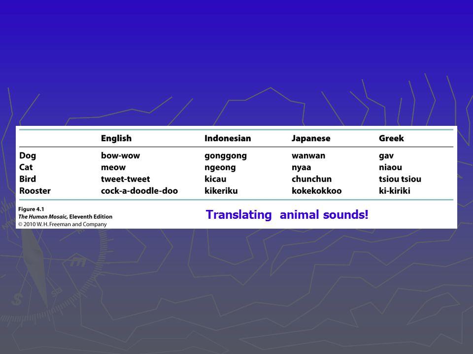 Linguistic shatter belt