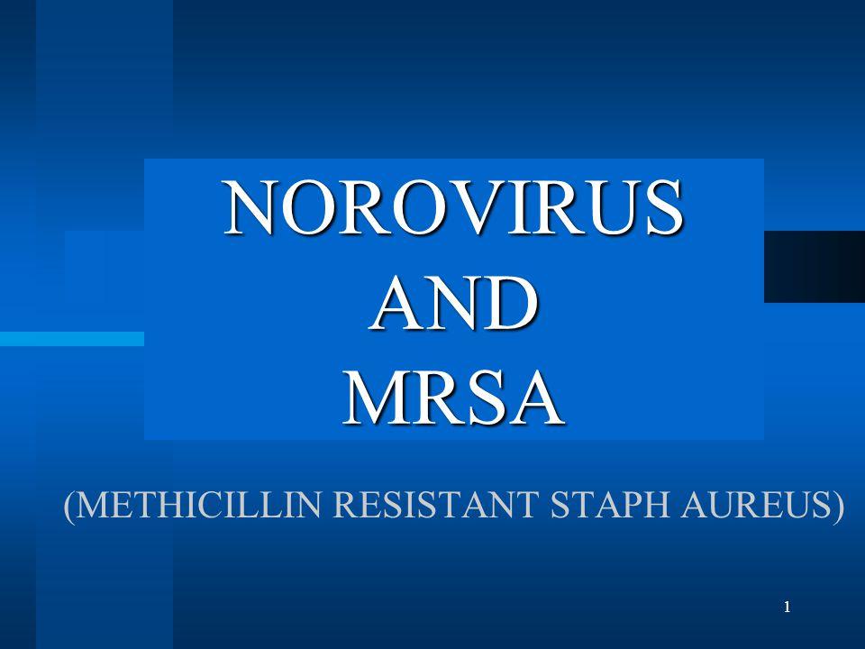 1 NOROVIRUS AND MRSA (METHICILLIN RESISTANT STAPH AUREUS)