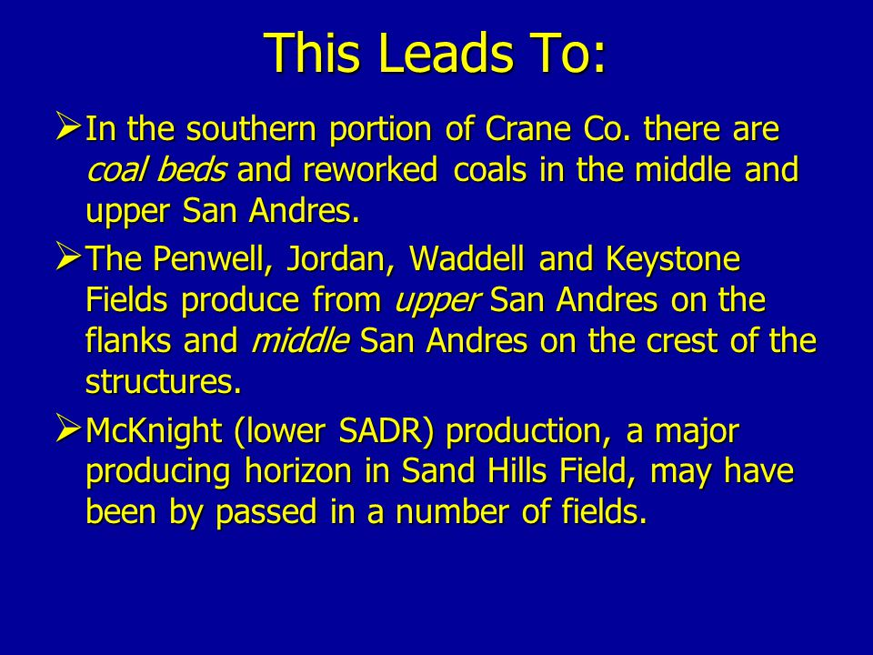This Leads To:  In the southern portion of Crane Co.