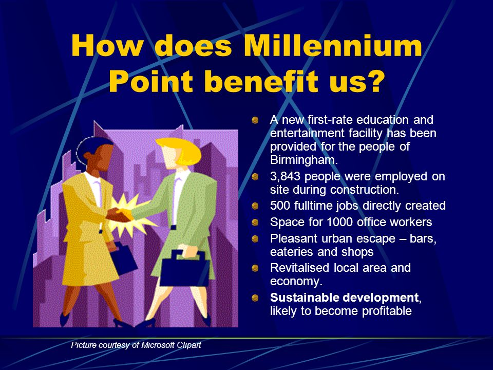 How was it funded? Millennium point is a £114m project. Funding has been provided by: Millennium commission - £50m European regional development fund