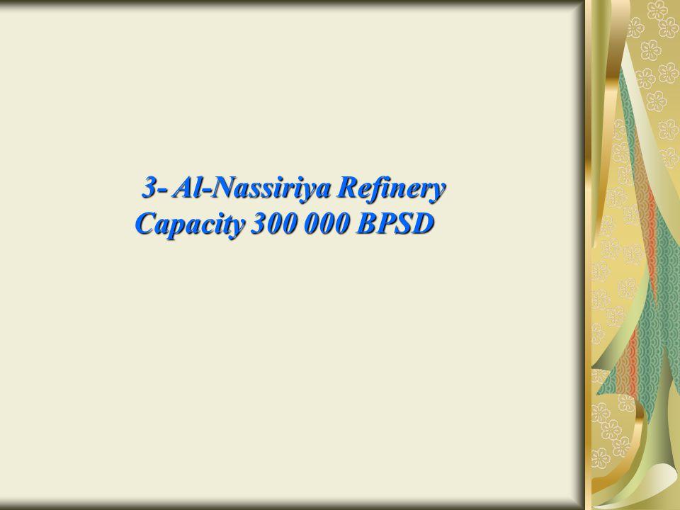 3- Al-Nassiriya Refinery 3- Al-Nassiriya Refinery Capacity 300 000 BPSD