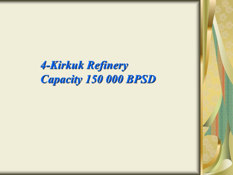 4-Kirkuk Refinery Capacity 150 000 BPSD