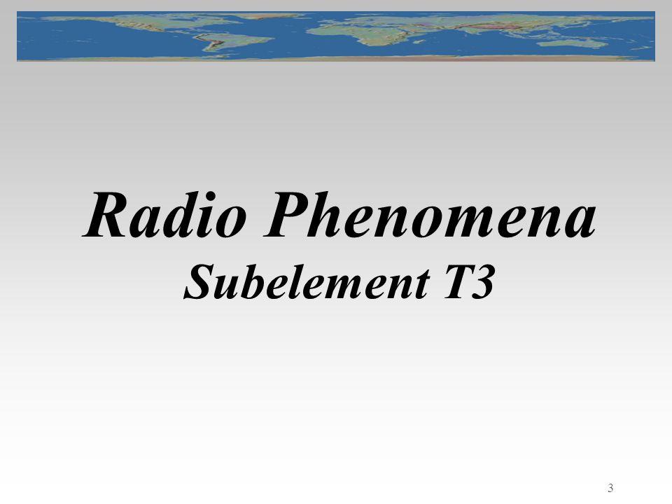 3 Radio Phenomena Subelement T3