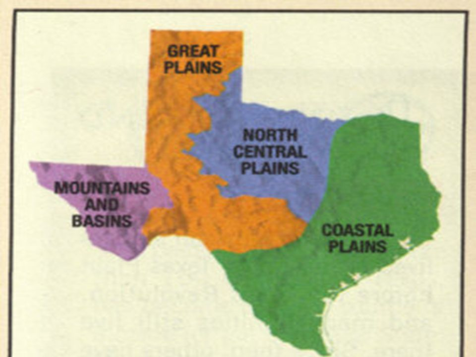 Mountains and Basins Region Has NO SUBREGIONS Has highest point of Texas, Guadalupe Peak at 8,749 feet.