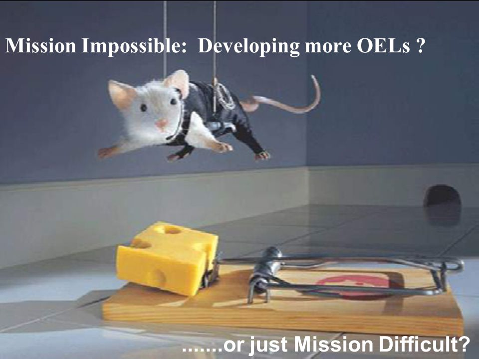 CIHC December 2010 Mission Impossible: Developing more OELs .......or just Mission Difficult