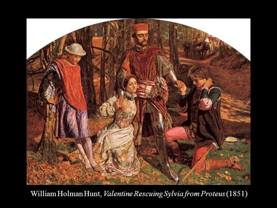 William Holman Hunt, Valentine Rescuing Sylvia from Proteus (1851)