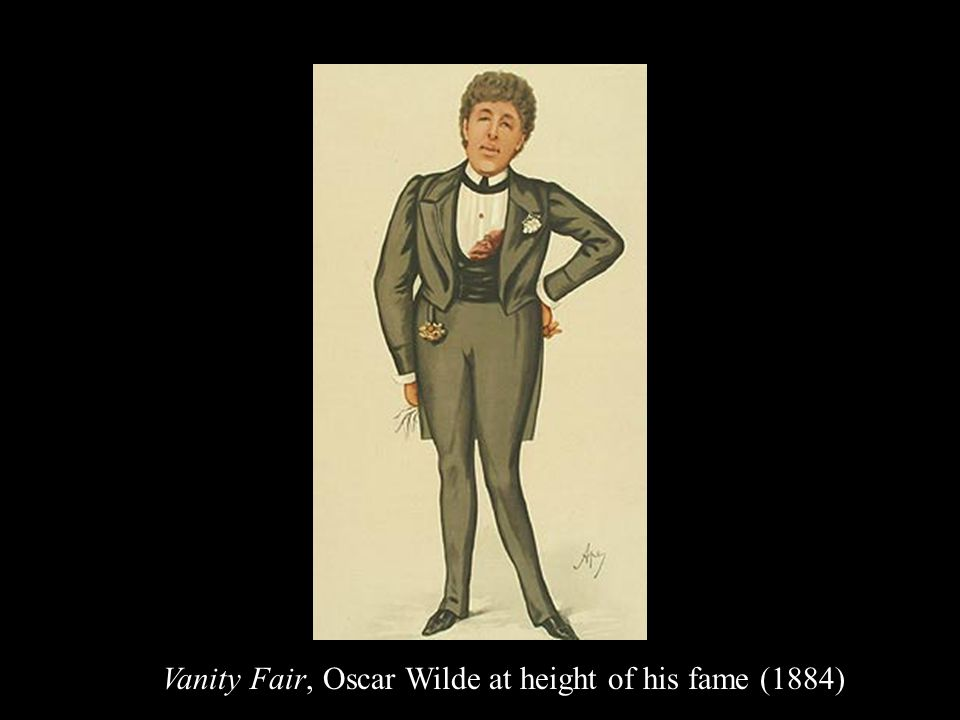 Vanity Fair, Oscar Wilde at height of his fame (1884)