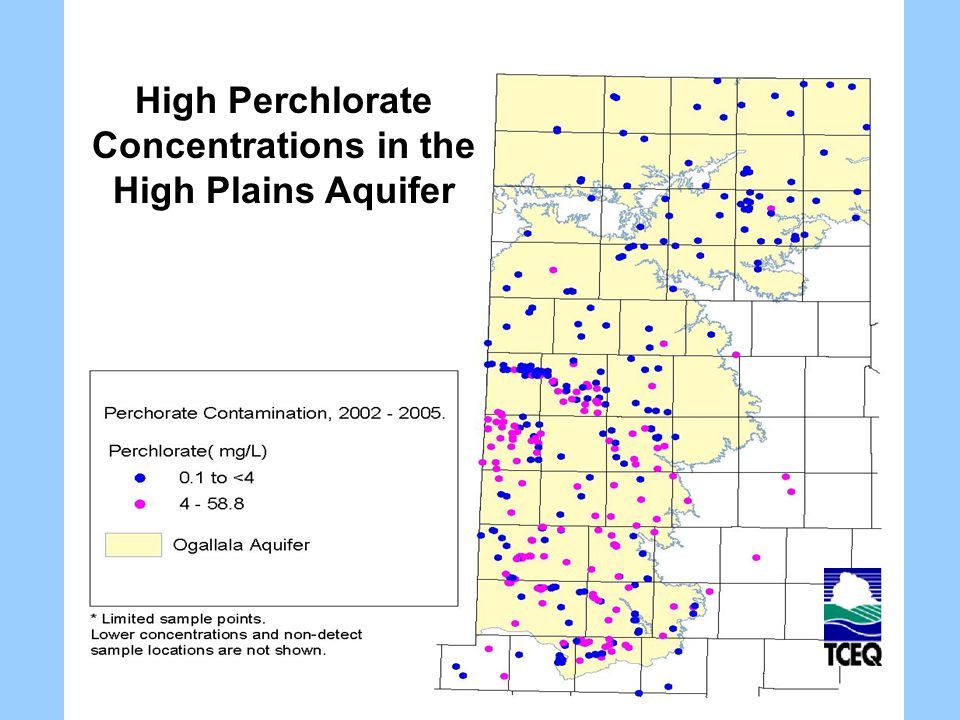 High Perchlorate Concentrations in the High Plains Aquifer