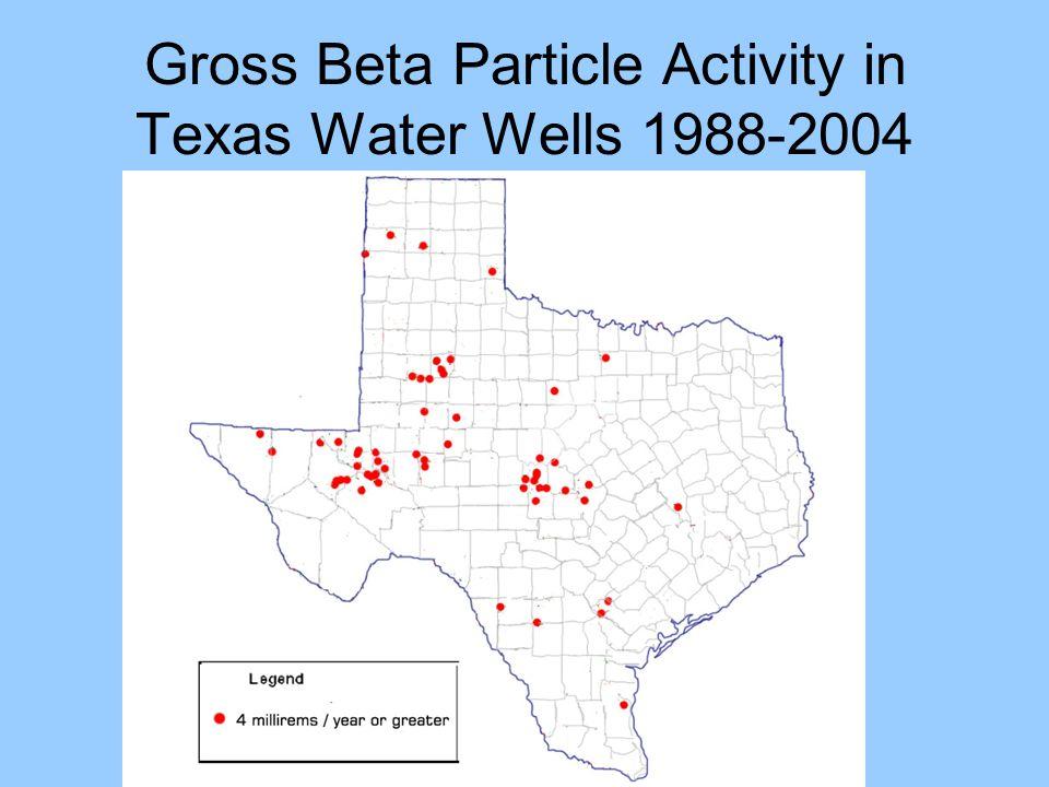 Gross Beta Particle Activity in Texas Water Wells 1988-2004