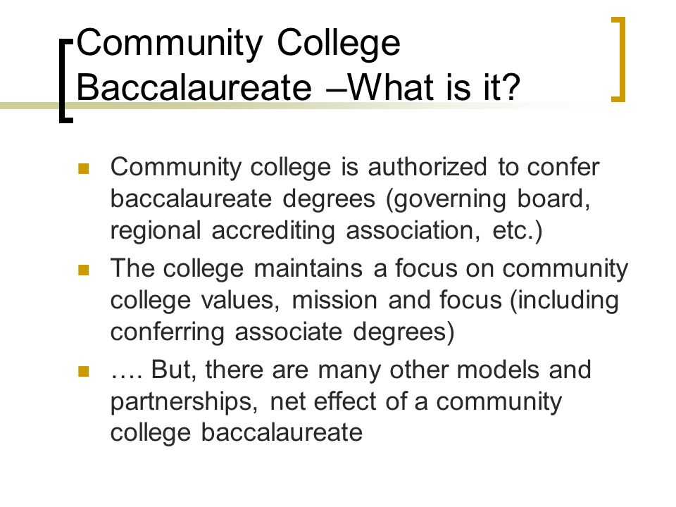 Fiscal Ramifications - questions What are the real costs of community college baccalaureate programs.