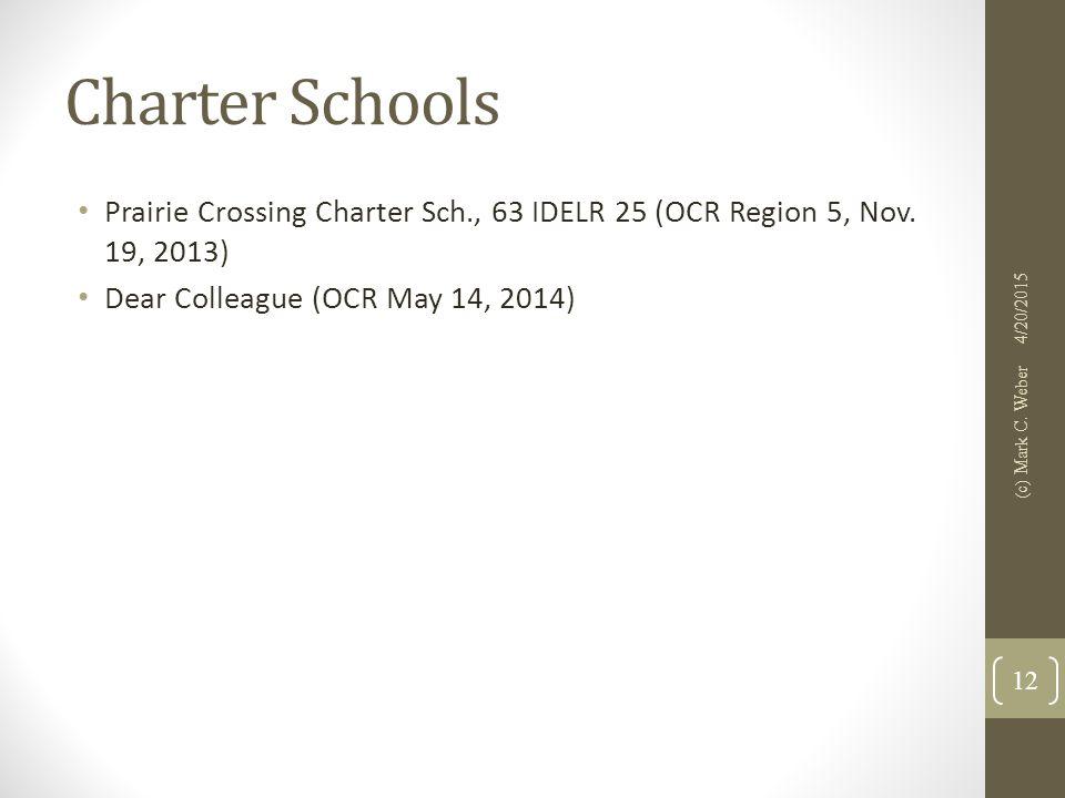 Charter Schools Prairie Crossing Charter Sch., 63 IDELR 25 (OCR Region 5, Nov.