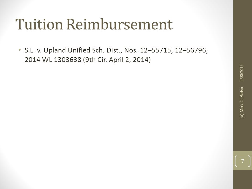 Tuition Reimbursement S.L. v. Upland Unified Sch.