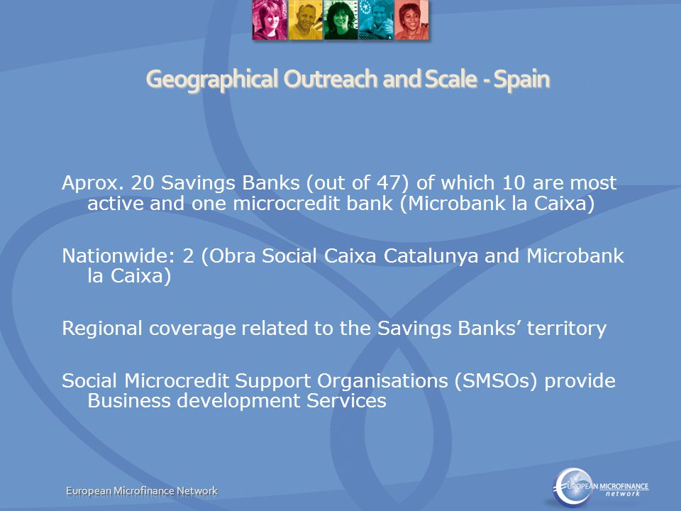 Cost and Income Structure Spain Funding Savings Banks: interest income and Social Work funds Social Microcredit Support Organisations (Business Development Services): private and public subsidies UK very little data for UK Unit cost av.