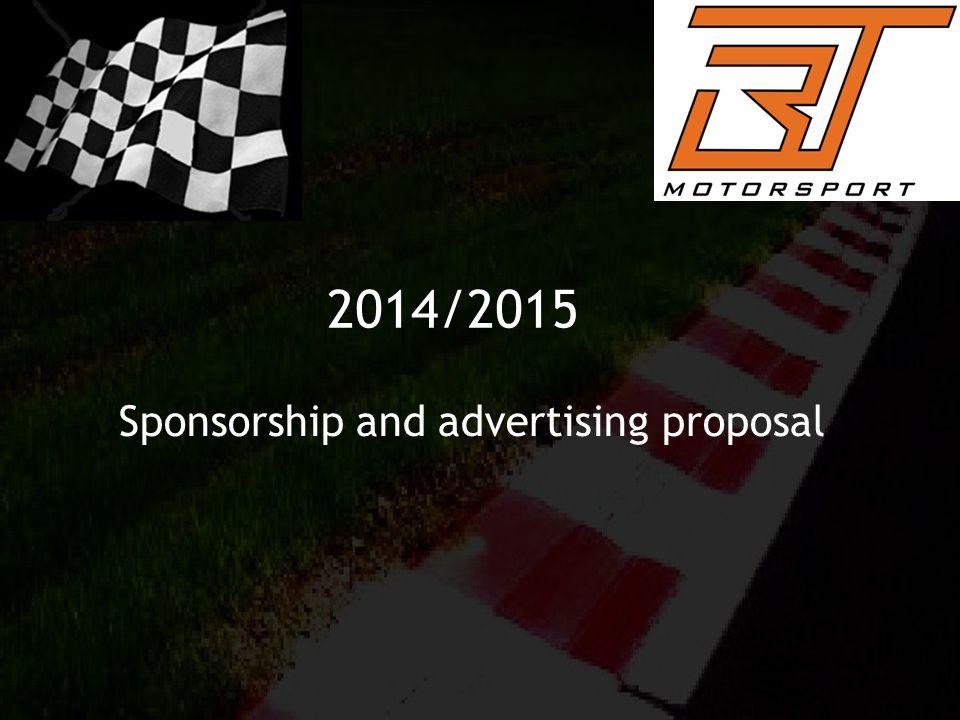 2014/2015 Sponsorship and advertising proposal