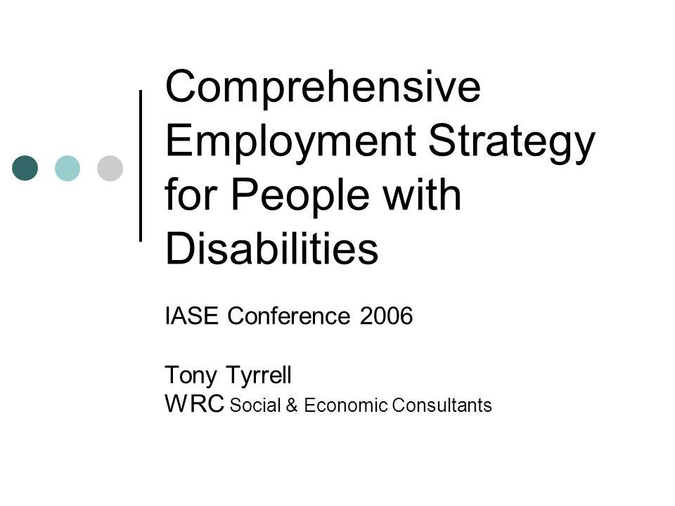 Developing a systematic process of engagement with people with disabilities in order to assist them articulate and realise their employment aspirations.